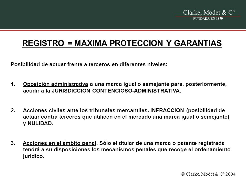 REGISTRO = MAXIMA PROTECCION Y GARANTIAS
