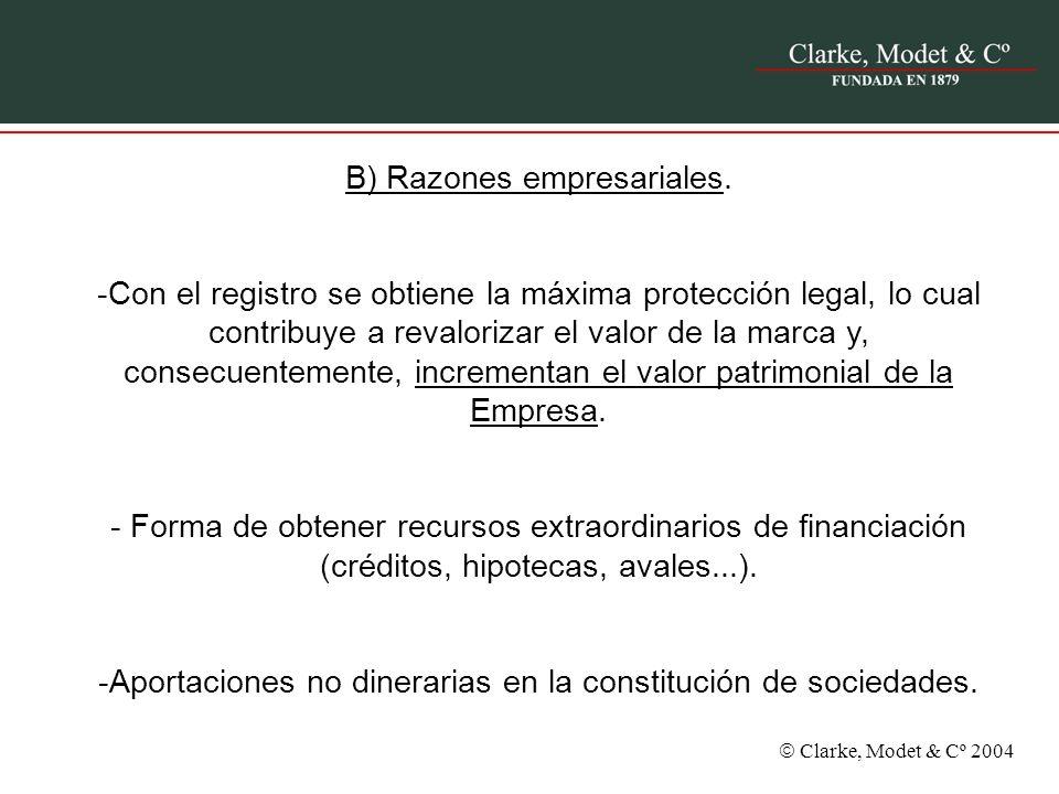 B) Razones empresariales.