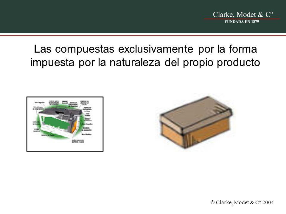 Las compuestas exclusivamente por la forma impuesta por la naturaleza del propio producto