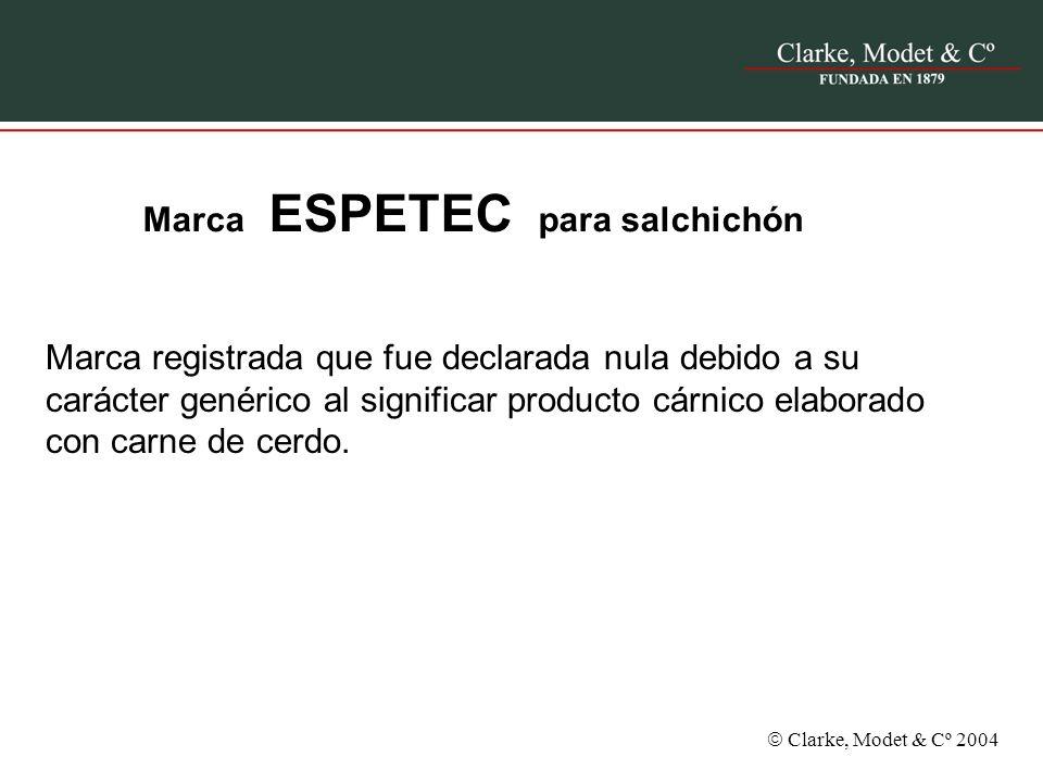 Marca ESPETEC para salchichón