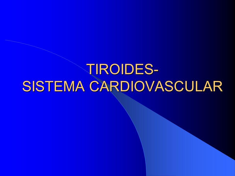 TIROIDES- SISTEMA CARDIOVASCULAR