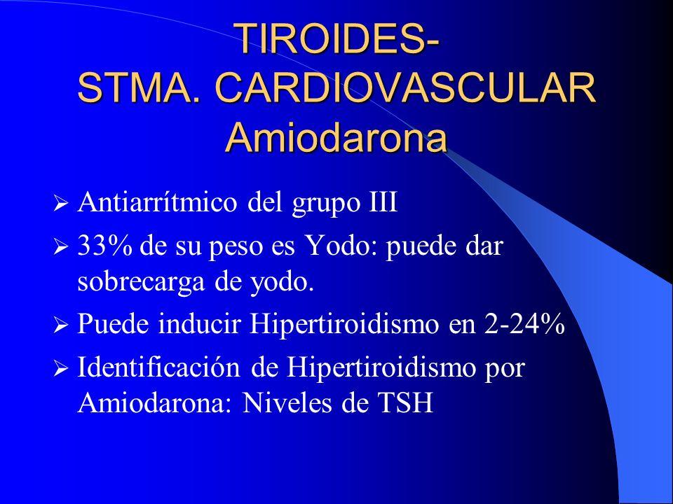 TIROIDES- STMA. CARDIOVASCULAR Amiodarona