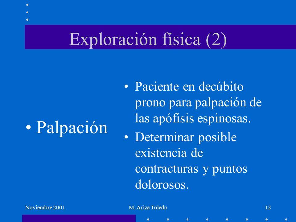Exploración física (2) Palpación