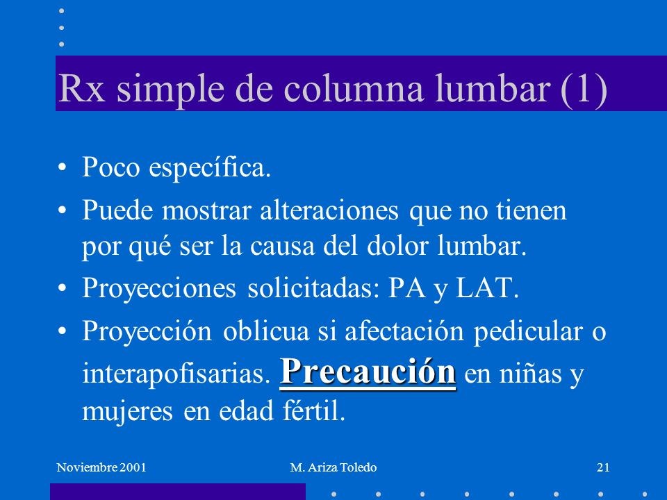 Rx simple de columna lumbar (1)