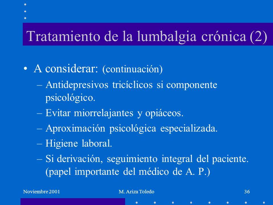 Tratamiento de la lumbalgia crónica (2)