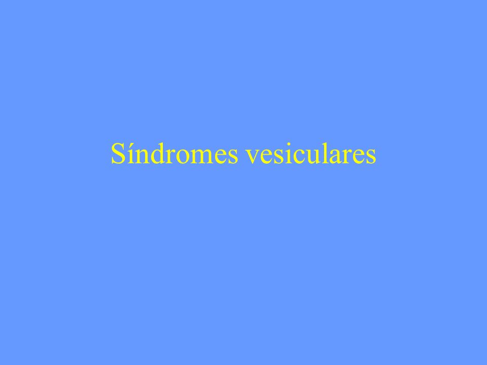 Síndromes vesiculares