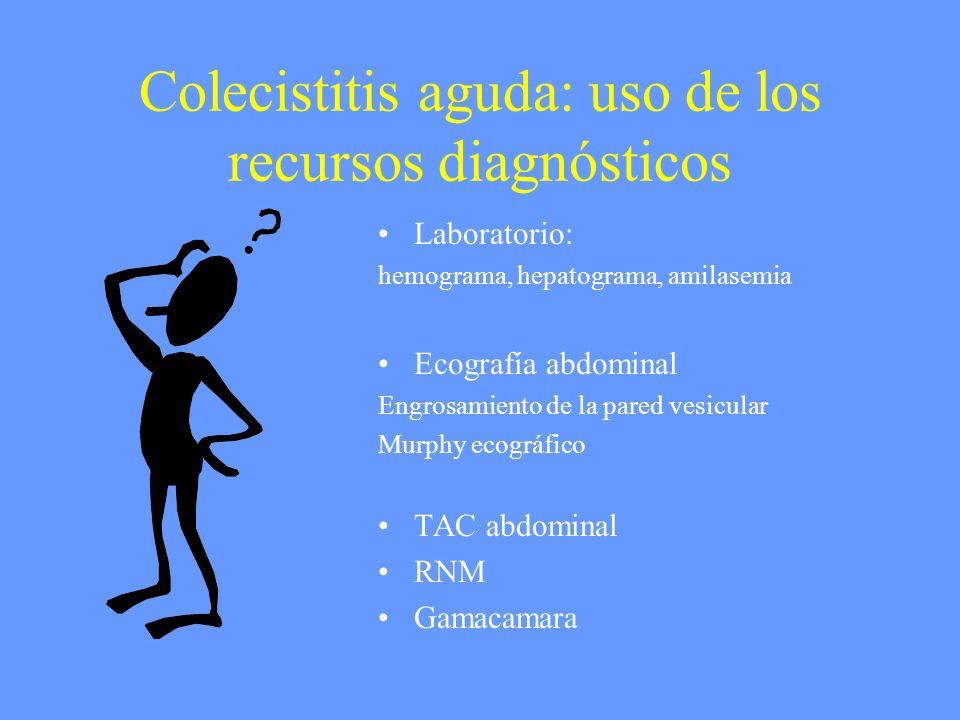 Colecistitis aguda: uso de los recursos diagnósticos