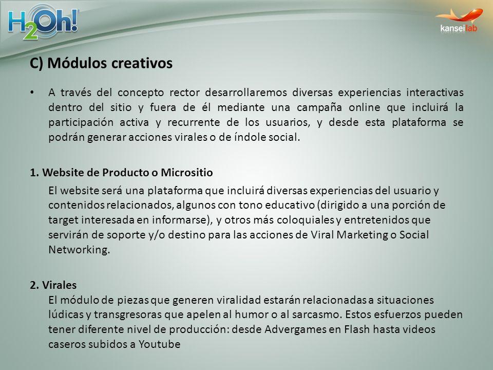 C) Módulos creativos