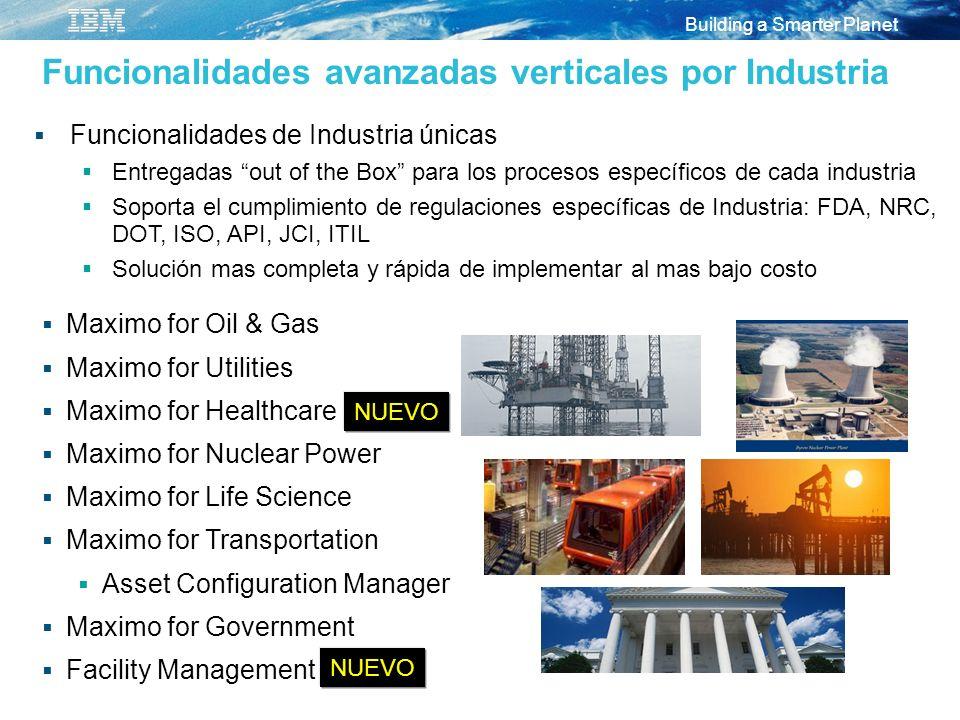Funcionalidades avanzadas verticales por Industria