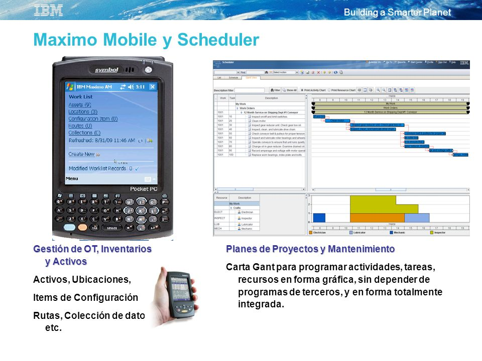 Maximo Mobile y Scheduler