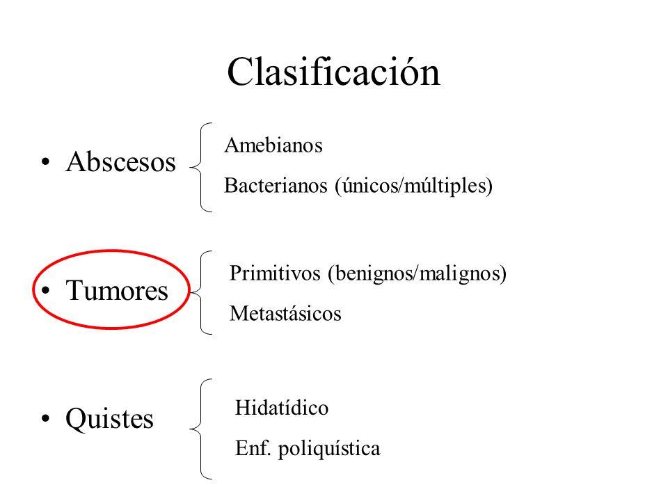 Clasificación Abscesos Tumores Quistes Amebianos