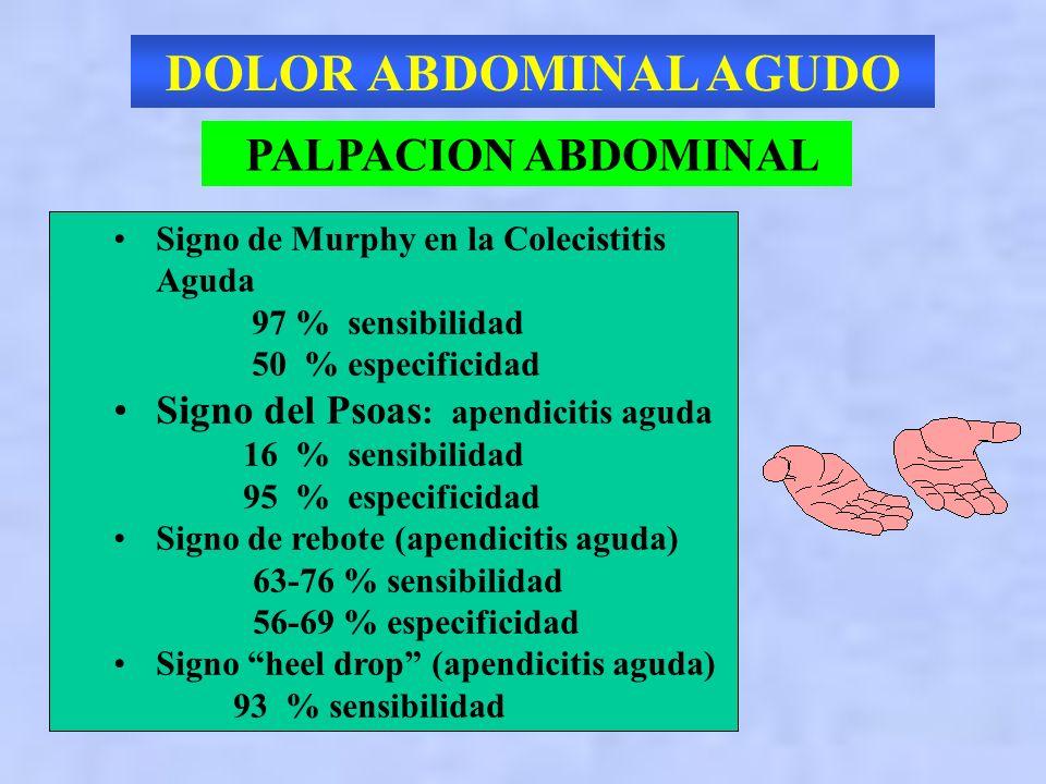 DOLOR ABDOMINAL AGUDO PALPACION ABDOMINAL