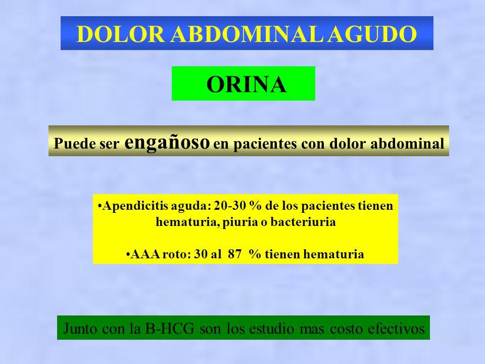 DOLOR ABDOMINAL AGUDO ORINA