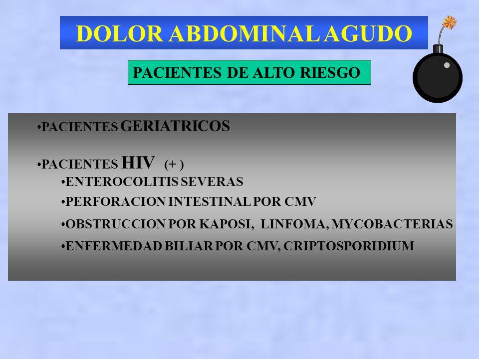 DOLOR ABDOMINAL AGUDO PACIENTES DE ALTO RIESGO PACIENTES GERIATRICOS