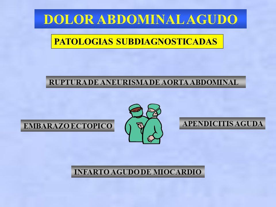 DOLOR ABDOMINAL AGUDO PATOLOGIAS SUBDIAGNOSTICADAS