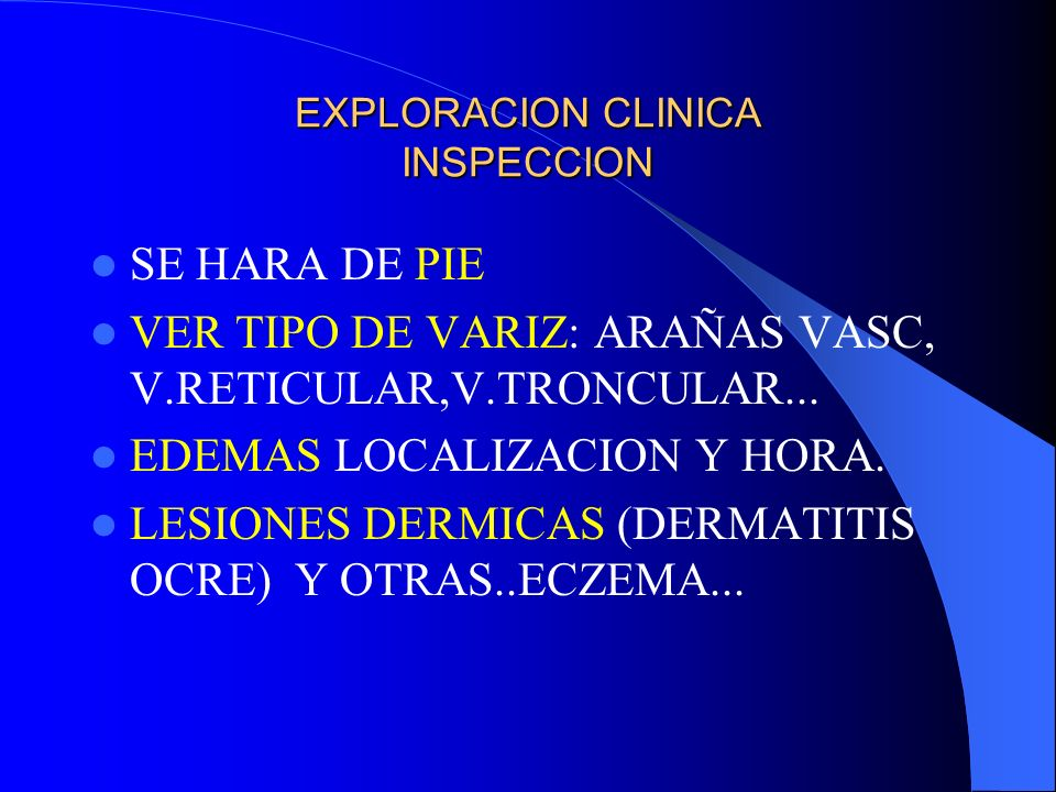 EXPLORACION CLINICA INSPECCION
