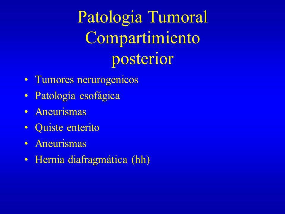 Patologia Tumoral Compartimiento posterior