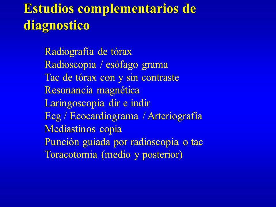 Estudios complementarios de diagnostico
