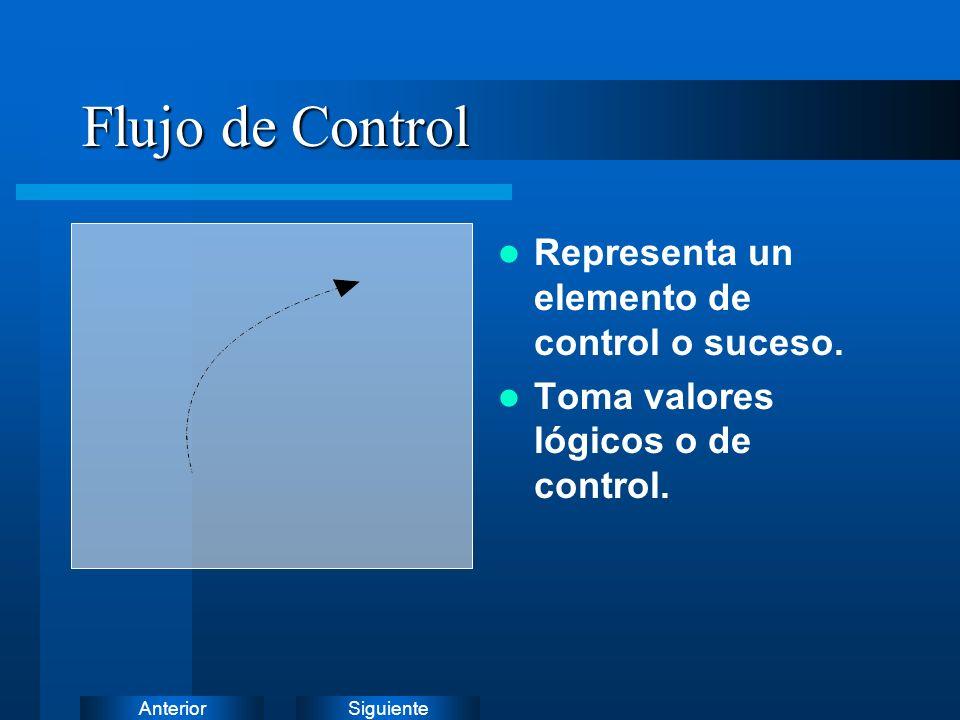 Flujo de Control Representa un elemento de control o suceso.
