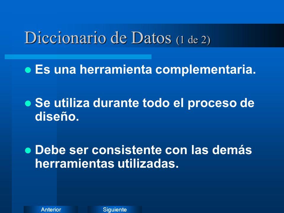 Diccionario de Datos (1 de 2)