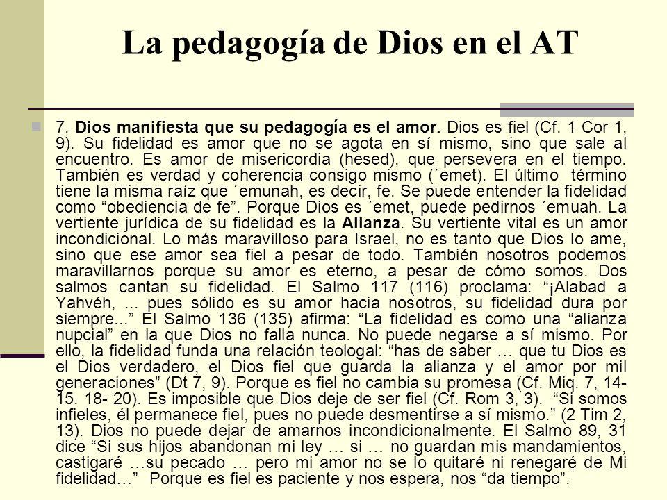 La pedagogía de Dios en el AT
