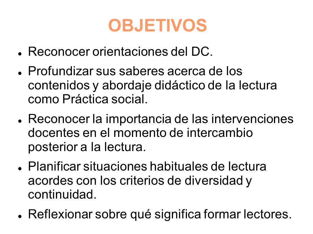 OBJETIVOS Reconocer orientaciones del DC.