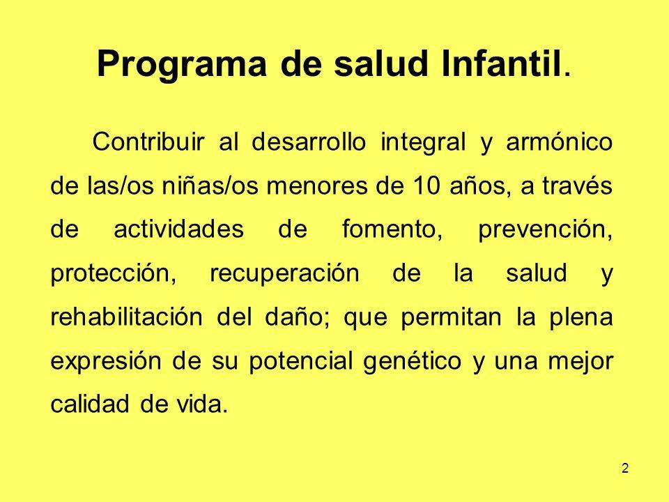 Programa de salud Infantil.