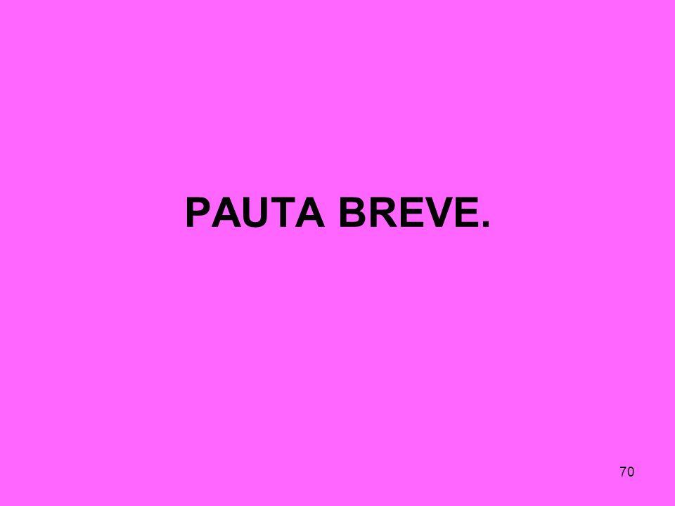 PAUTA BREVE.