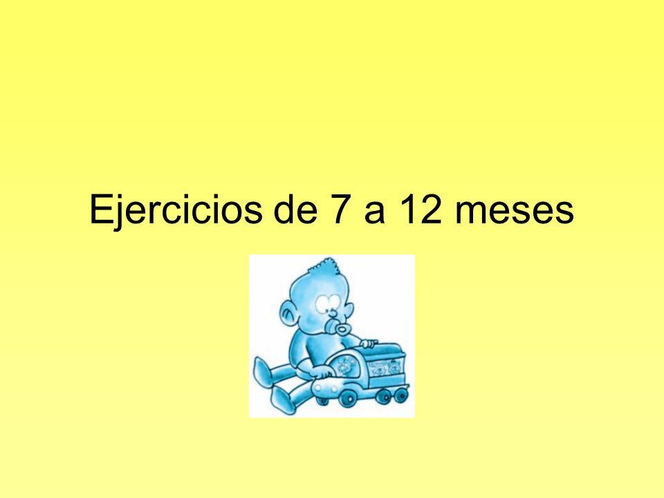 Ejercicios de 7 a 12 meses