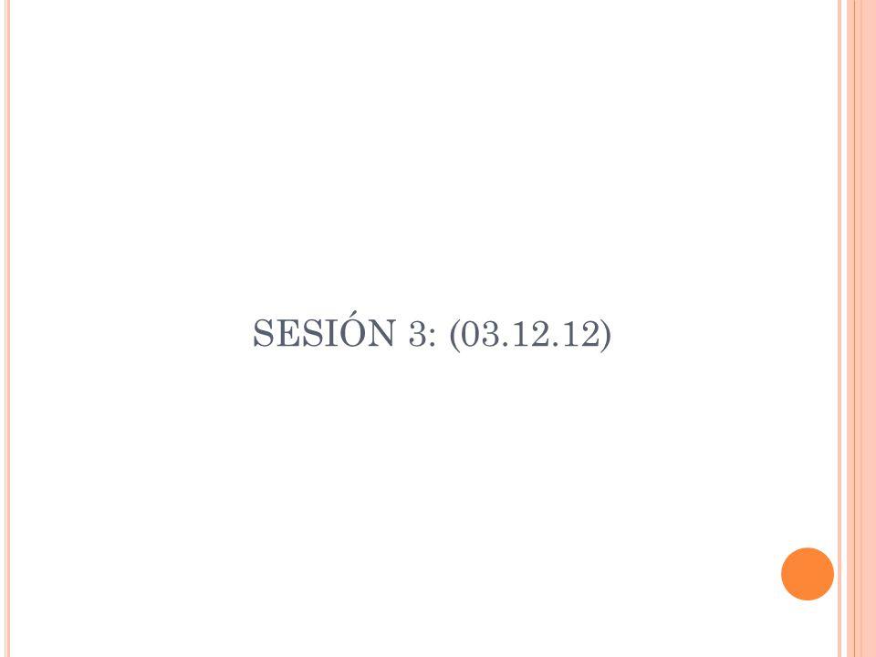SESIÓN 3: (03.12.12)
