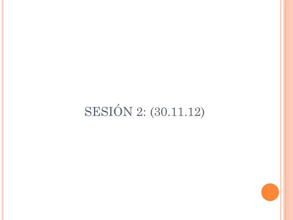 SESIÓN 2: (30.11.12)