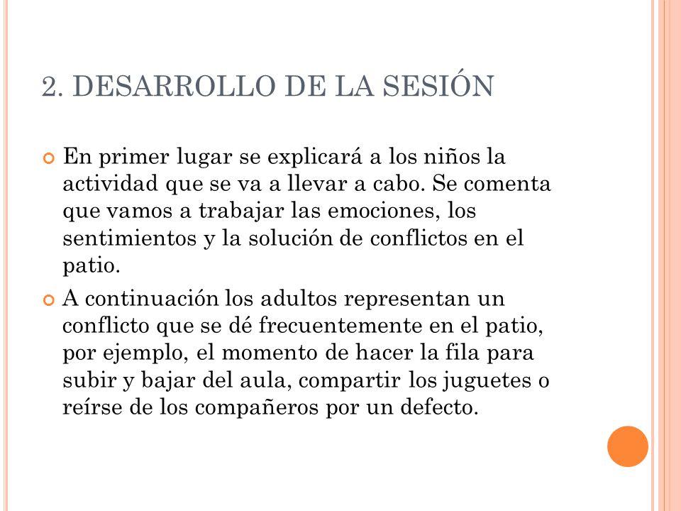 2. DESARROLLO DE LA SESIÓN
