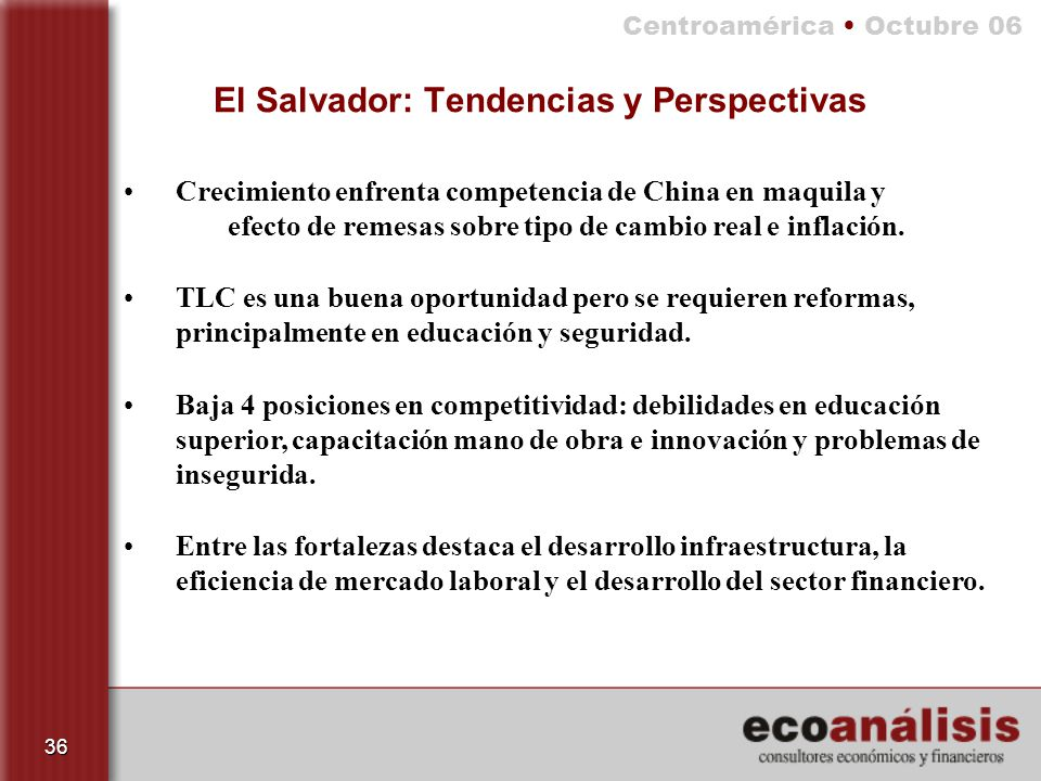 El Salvador: Tendencias y Perspectivas