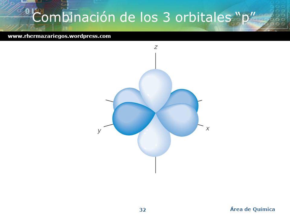 Combinación de los 3 orbitales p