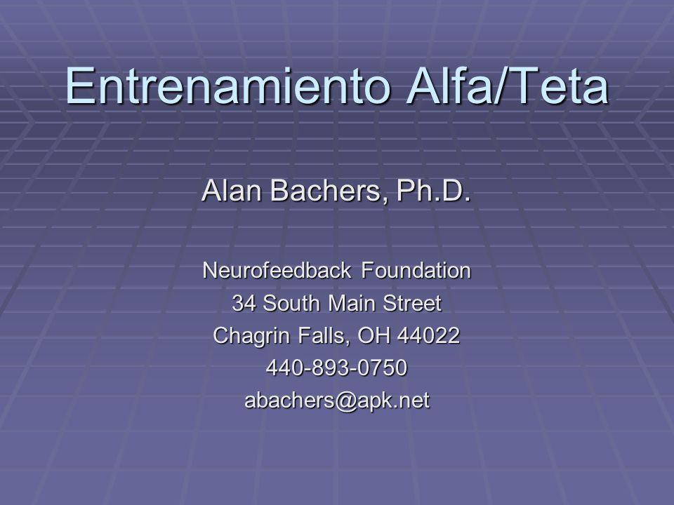 Entrenamiento Alfa/Teta