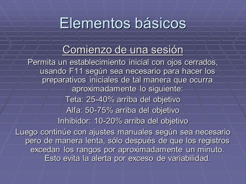 Elementos básicos Comienzo de una sesión