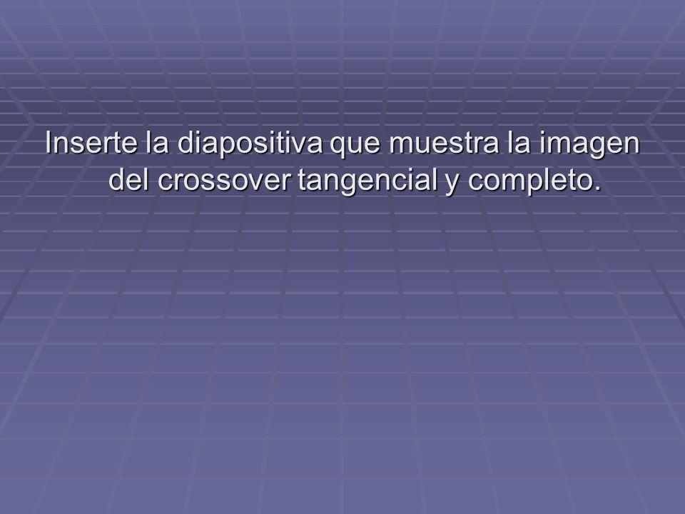 Inserte la diapositiva que muestra la imagen del crossover tangencial y completo.