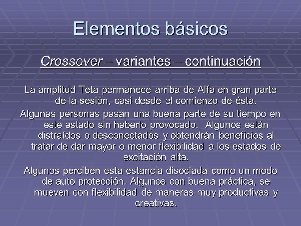 Crossover – variantes – continuación