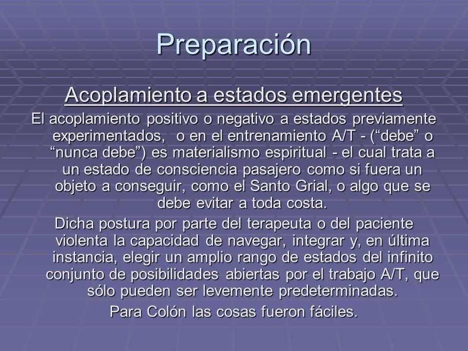 Preparación Acoplamiento a estados emergentes