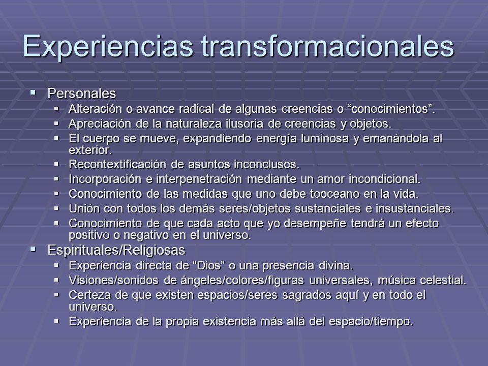 Experiencias transformacionales