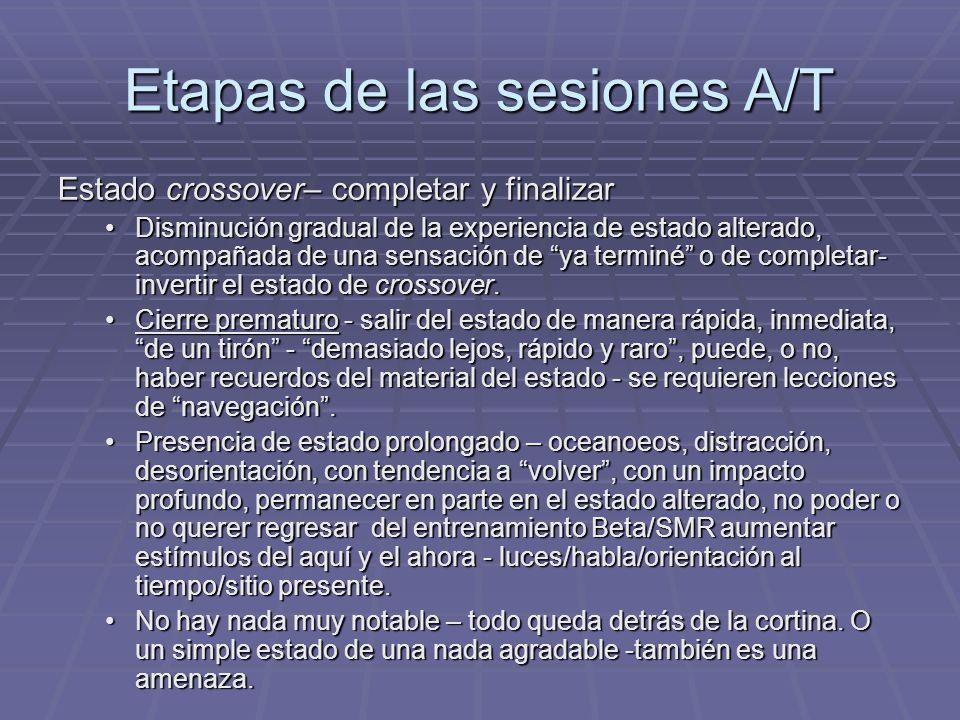 Etapas de las sesiones A/T