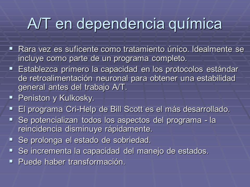A/T en dependencia química