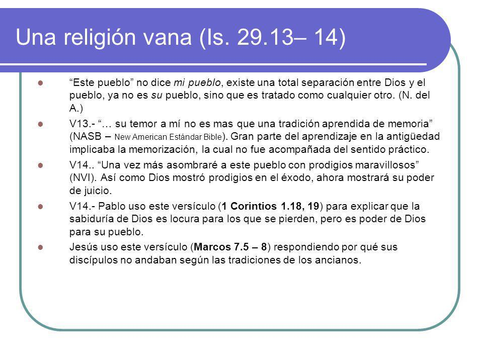 Una religión vana (Is – 14)