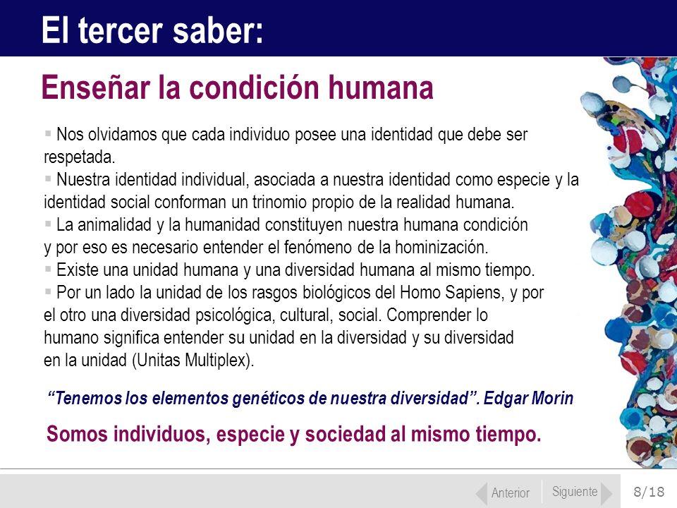 El tercer saber: Enseñar la condición humana