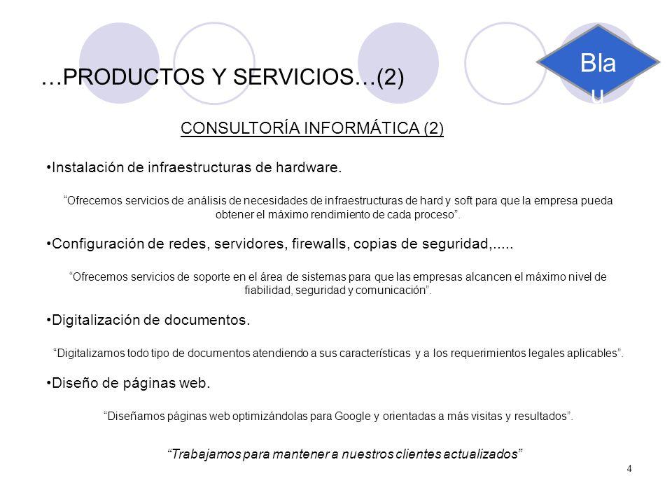 …PRODUCTOS Y SERVICIOS…(2)