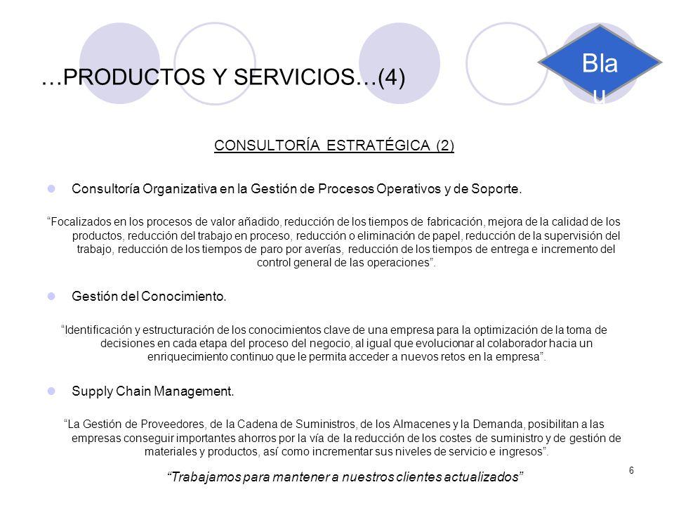 …PRODUCTOS Y SERVICIOS…(4)