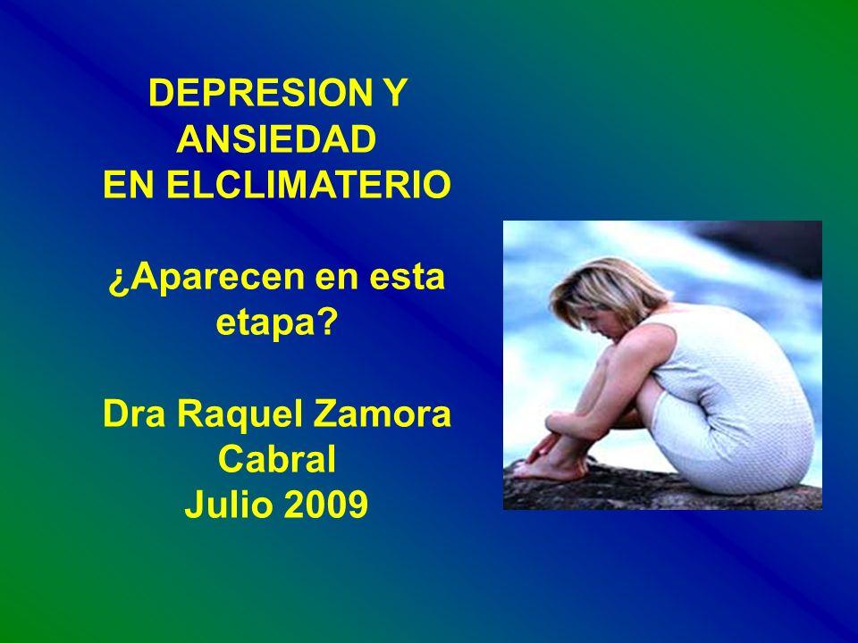 ¿Aparecen en esta etapa Dra Raquel Zamora Cabral