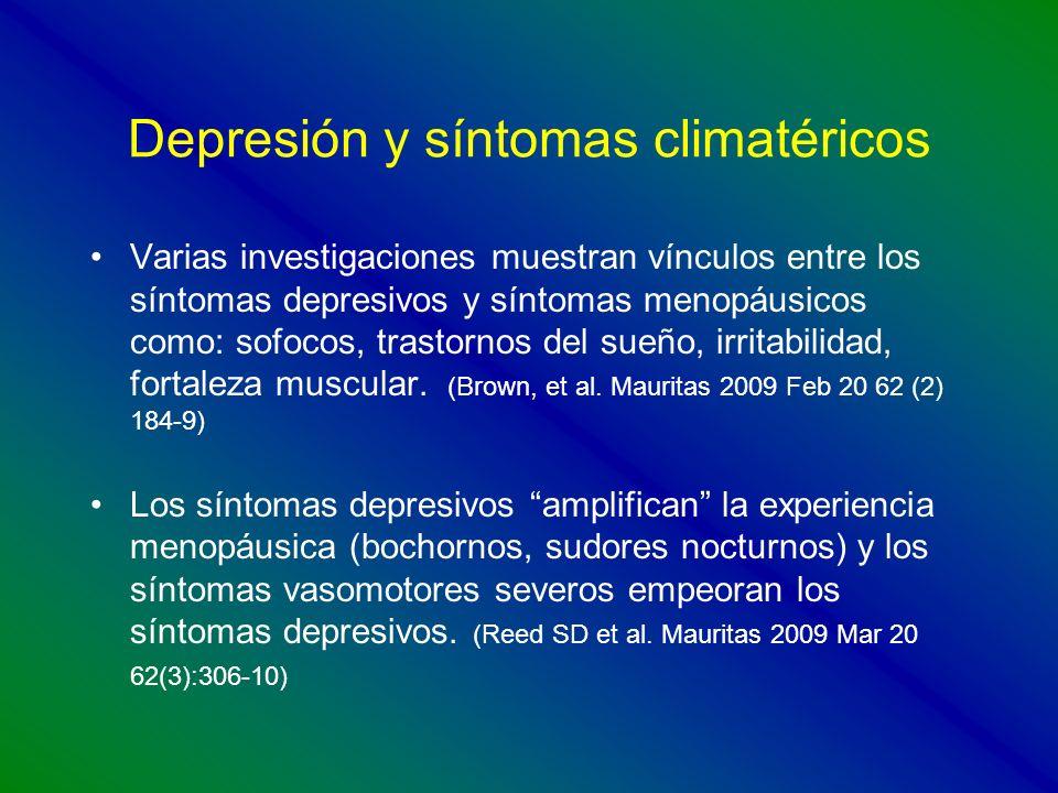 Depresión y síntomas climatéricos