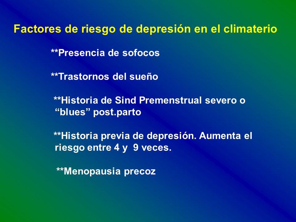 Factores de riesgo de depresión en el climaterio