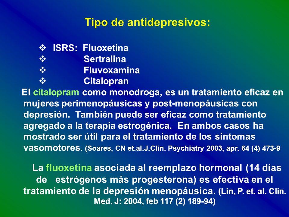 Tipo de antidepresivos: